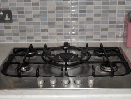 A photo of a safe gas hob.